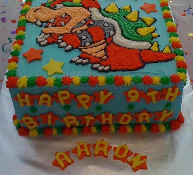 Birthday Cakes Baking With Julie - Bowser birthday cake